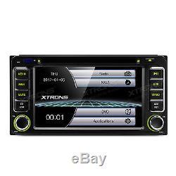 XTRONS 6.2 Car Radio DVD CD Player GPS SAT NAV Toyota RAV 4 Alphard Hilux Vios