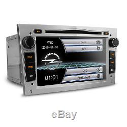 XTRONS 7 HD GPS Car CD DVD Player for Opel Vauxhall Astra H Corsa Vectra Silver