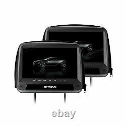 XTRONS 9 HD Car Pillow Headrest Monitor DVD Player HDMI FM IR + 2PCS Headphones