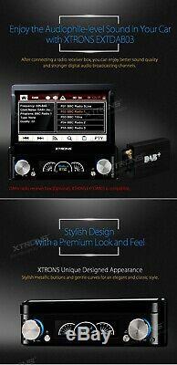 XTRONS Single 1 DIN 7 In Dash Car DVD Player Bluetooth Stereo DAB+ GPS SAT NAV