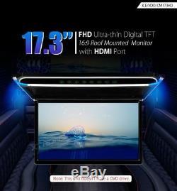 Xtrons Cm173hd Monitor Da Tetto Car Roof Mounted 17.3 Nero Black Hdmi